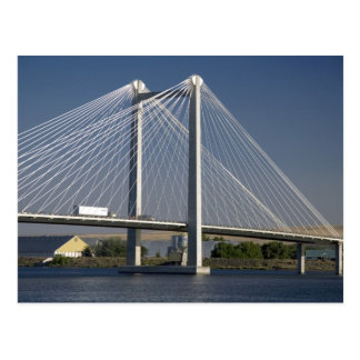 The Ed Hendler Bridge spans the Columbia River Postcard