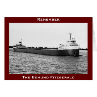 The Edmund Fitzgerald on the St. Clair River Greeting Cards