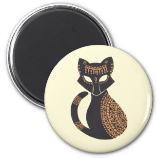 The Egyptian Cat 6 Cm Round Magnet
