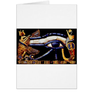 The Egyptian Eye of Horus Card