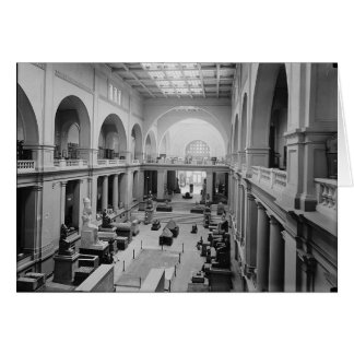 The Egyptian Museum (Interior) circa 1934 Card