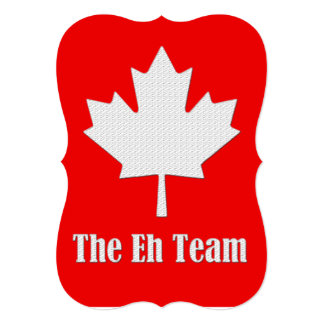 The Eh Team Canada Day Party Invitation