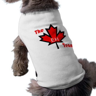 the eh team sleeveless dog shirt
