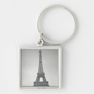 The Eiffel Tower, 1887-89 Silver-Colored Square Key Ring