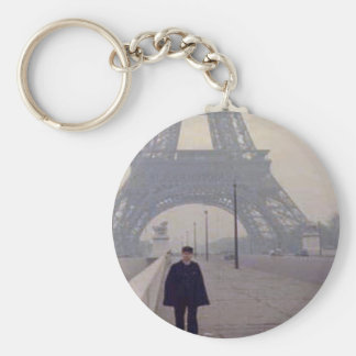 The eiffel tower and a Gendarme Keychains