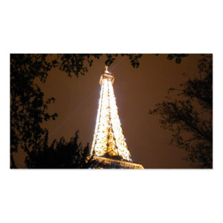 The Eiffel Tower at Night Business Card Templates