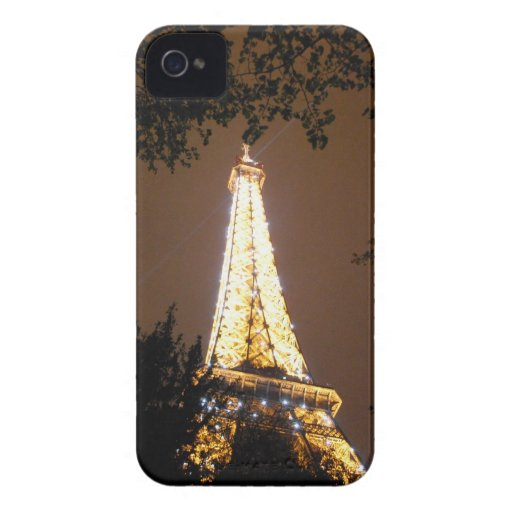 The Eiffel Tower at Night iPhone 4 Covers