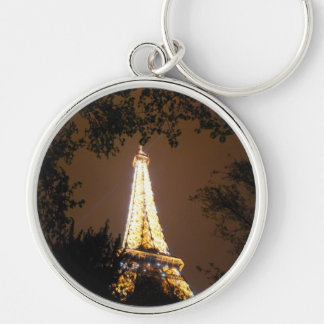 The Eiffel Tower at Night Keychains