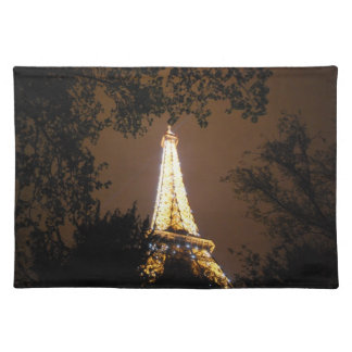 The Eiffel Tower at Night Placemat