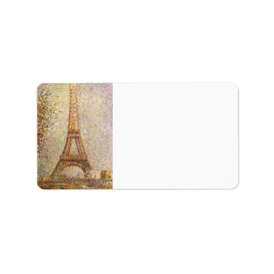 The Eiffel Tower by Georges Seurat Address Label