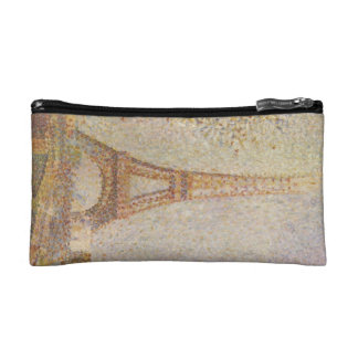 The Eiffel Tower by Georges Seurat Makeup Bags