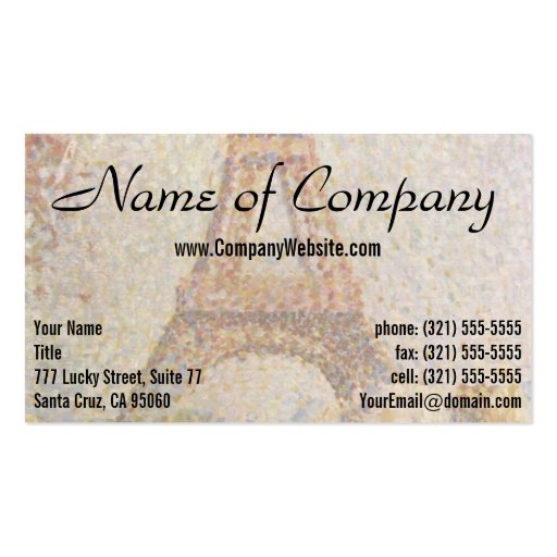 The Eiffel Tower by Georges Seurat Business Card