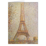 The Eiffel Tower by Georges Seurat Card