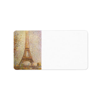 The Eiffel Tower by Georges Seurat Label