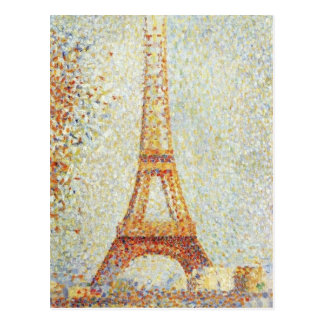 The Eiffel Tower by Georges Seurat Postcard