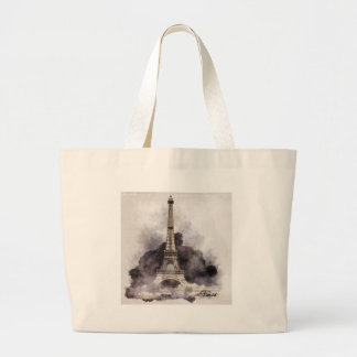 The Eiffel Tower of Paris Tote Bags