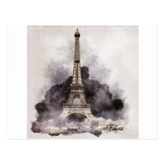 The Eiffel Tower of Paris Postcard