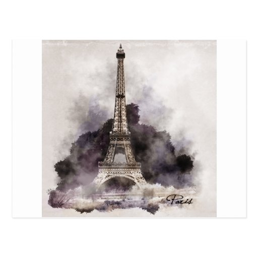 The Eiffel Tower of Paris Post Cards