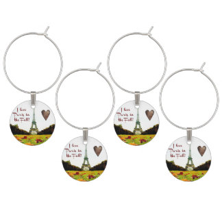 The Eiffel Tower Wine Glass Charms