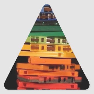 The eighties rainbow colored casette tapes triangle sticker