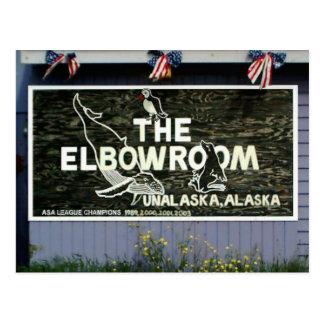The Elbow Room Sign, Unalaska Island Postcard