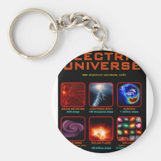 The Electric Universe Basic Round Button Key Ring