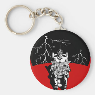 The Electrical Chair Basic Round Button Key Ring