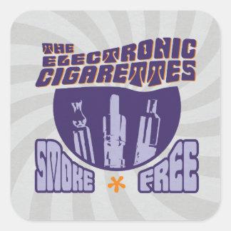 The Electronic Cigarettes - Smoke Free Square Sticker