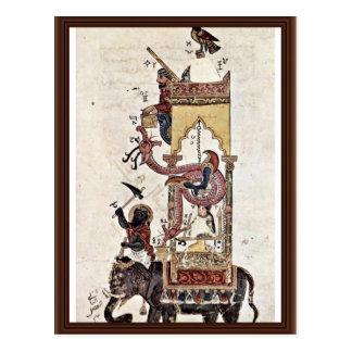 The Elefantenuhr By Syrischer Maler Um 1315 Postcard
