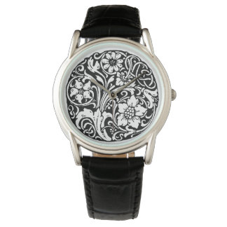 The Elegant Black Filigree Watch