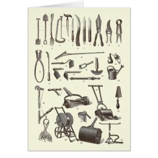 The Elegant Gardener - Antique Garden Tools Card