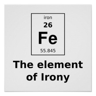 The element of irony poster