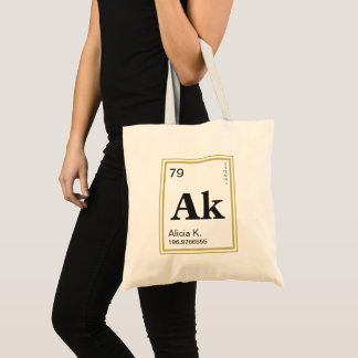 The Element of You! Custom Name Periodic Table Tote Bag