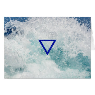 The Element Water Symbol Card