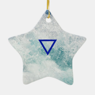 The Element Water Symbol Ceramic Star Decoration
