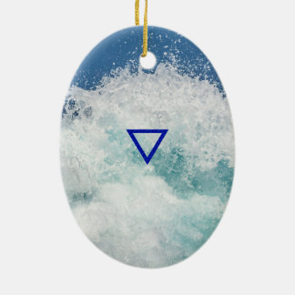 The Element Water Symbol Christmas Ornament