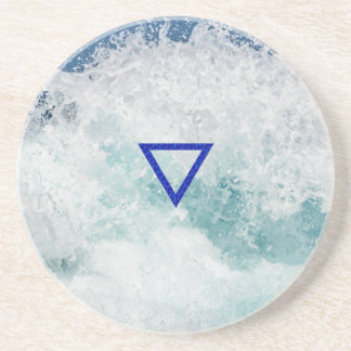 The Element Water Symbol Coaster