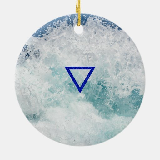 The Element Water Symbol Christmas Ornaments