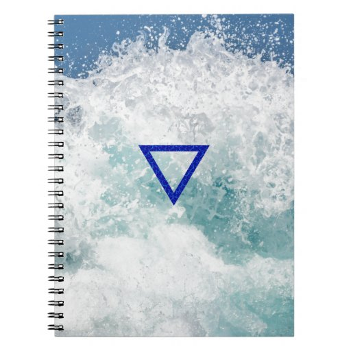 The Element Water Symbol Spiral Notebooks