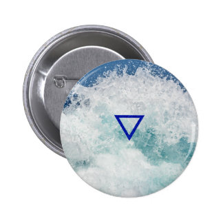 The Element Water Symbol Pinback Buttons