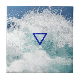 The Element Water Symbol Small Square Tile