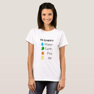The Elements fire,water,earth,air, tshirt