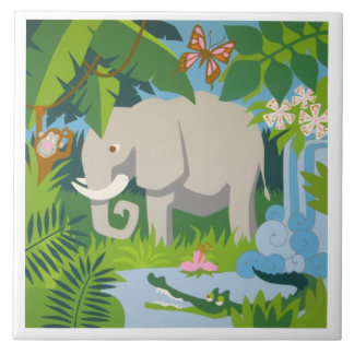 The Elephant large ceramic tile