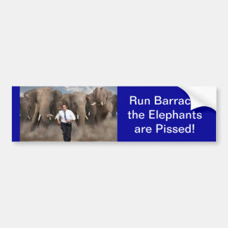 The Elephants are Pissed! Bumper Sticker