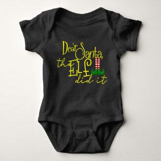 The Elf Did It Baby Bodysuit