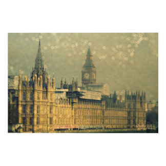 The Elizabeth Tower Big Ben Wood Wall Art Wood Canvas