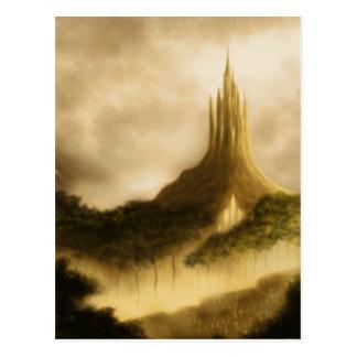 the elven kingdom fantasy art postcard