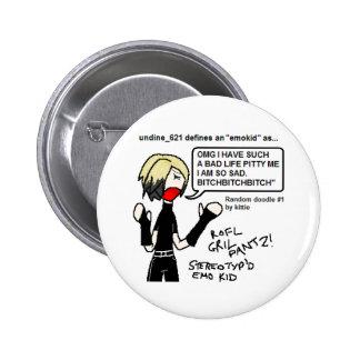 The Emo Kid 6 Cm Round Badge