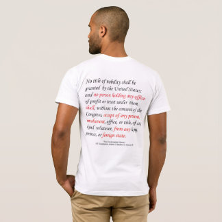The Emoluments Clause of the US Constitution Men's T-Shirt