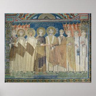 The Emperor Constantine IV grants tax immunity Poster